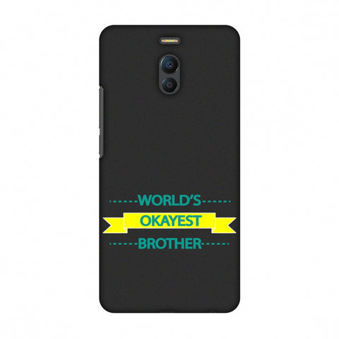 World's Okayest Brother Slim Hard Shell Case For Meizu Note 6