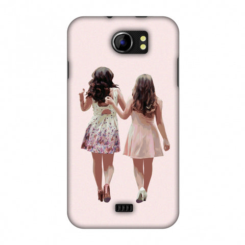 Chick Love Slim Hard Shell Case For Micromax Canvas 2 A110