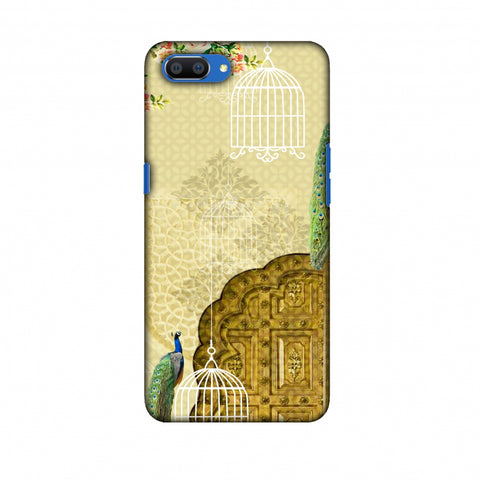 Dazzling Plumage Slim Hard Shell Case For Oppo Realme C1