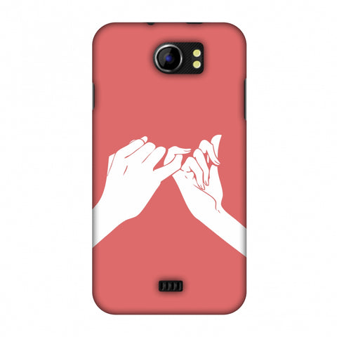 Pinky Promise Slim Hard Shell Case For Micromax Canvas 2 A110