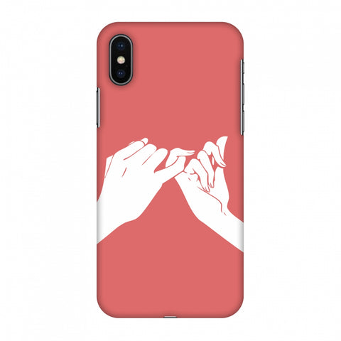 Pinky Promise Slim Hard Shell Case For Apple iPhone X