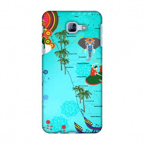 Kerala - God's Own Place Slim Hard Shell Case For Samsung Galaxy A8 2016