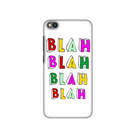 Blah Blah Blah Blah Slim Hard Shell Case For Redmi Go
