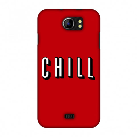 CHILL Slim Hard Shell Case For Micromax Canvas 2 A110