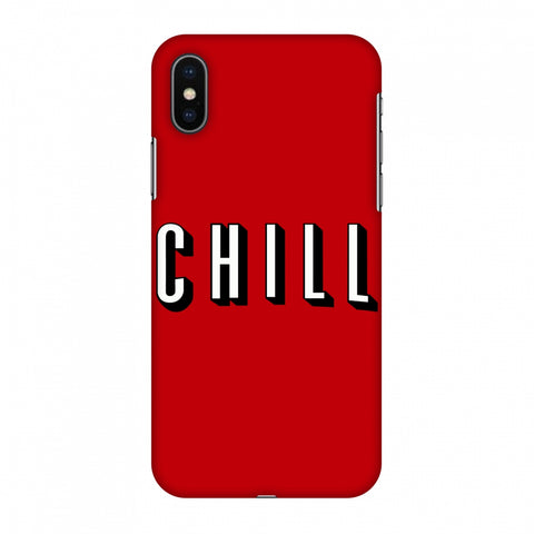 CHILL Slim Hard Shell Case For Apple iPhone X