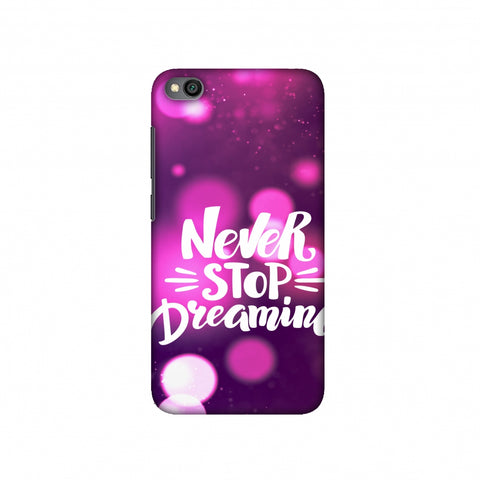 Never Stop Dreaming Slim Hard Shell Case For Redmi Go