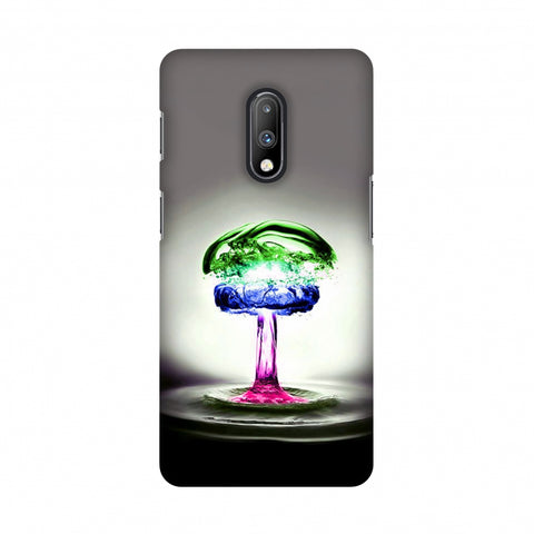 Colorful Droplet Slim Hard Shell Case For OnePlus 7