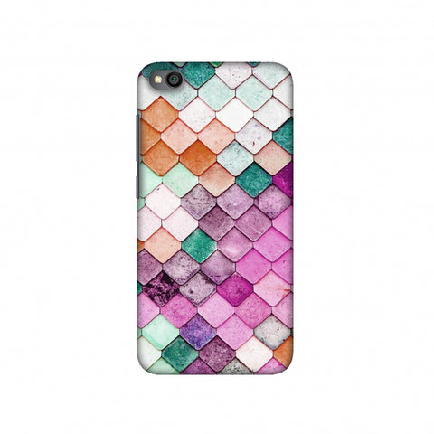 Diamond Lattice Slim Hard Shell Case For Redmi Go