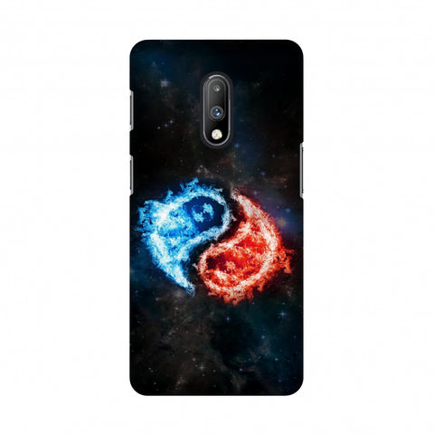 Element - Fire & Water Slim Hard Shell Case For OnePlus 7