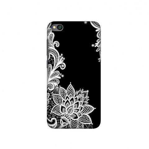 Floral Pattern B/W Slim Hard Shell Case For Redmi Go
