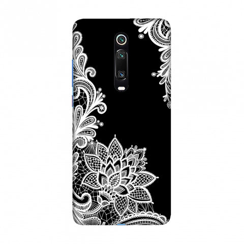 Floral Pattern B/W Slim Hard Shell Case For Redmi K20/K20 Pro