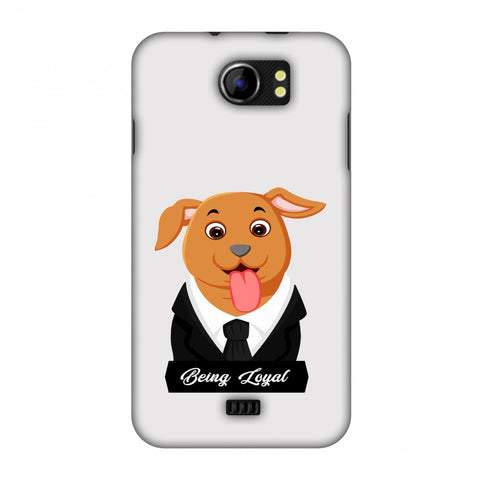 Dog - Being Loyal Slim Hard Shell Case For Micromax Canvas 2 A110