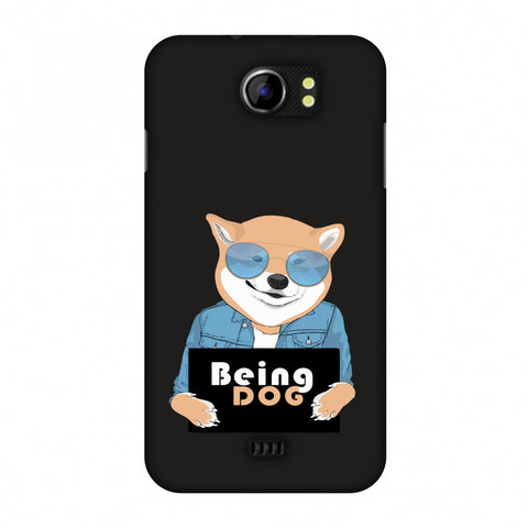 Being DOG Slim Hard Shell Case For Micromax Canvas 2 A110