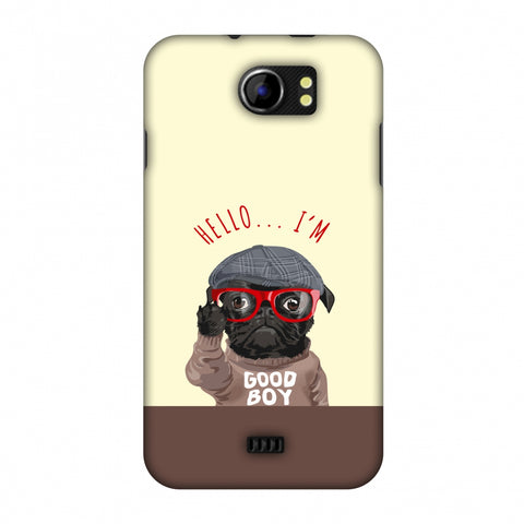 Dog - GOOD BOY Slim Hard Shell Case For Micromax Canvas 2 A110