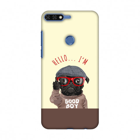 Dog - GOOD BOY Slim Hard Shell Case For Huawei Honor 7C