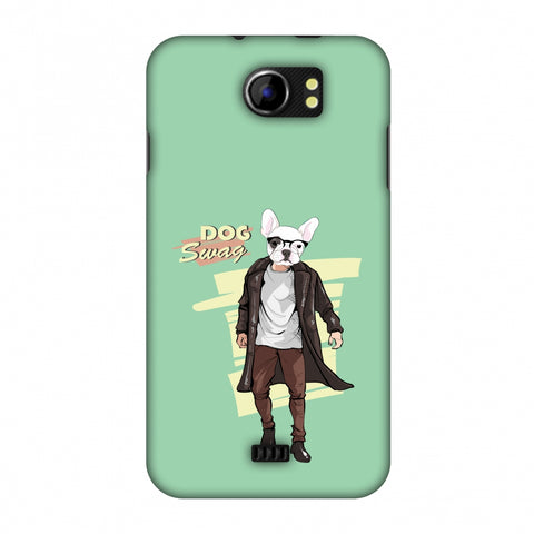 DOG Swag Slim Hard Shell Case For Micromax Canvas 2 A110