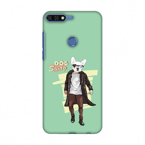 DOG Swag Slim Hard Shell Case For Huawei Honor 7C