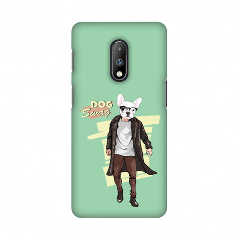 DOG Swag Slim Hard Shell Case For OnePlus 7