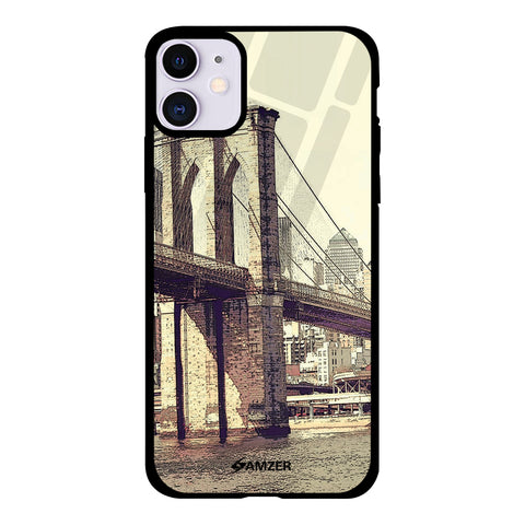 Bridge Link Glass Case Cover For iPhone 11