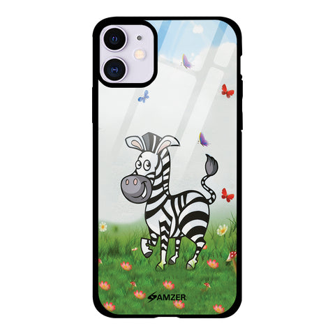 Lexi Zebra Glass Case Cover For iPhone 11