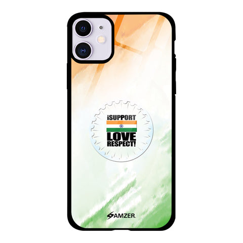 I Support Love India Glass Case Cover For iPhone 11