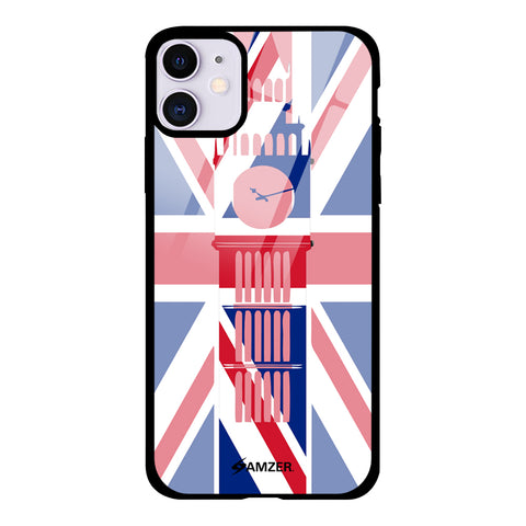Big Ben- UK flag Glass Case Cover For iPhone 11