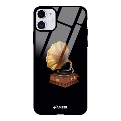 Vintage - Gramophone Glass Case Cover For iPhone 11
