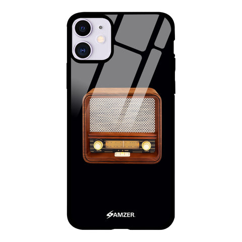Vintage - Radio Glass Case Cover For iPhone 11