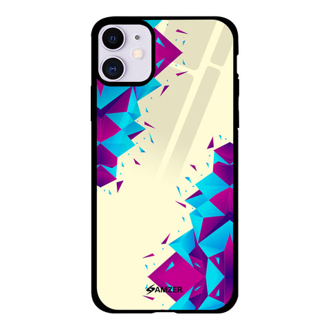 Duotone Polygon Glass Case Cover For iPhone 11