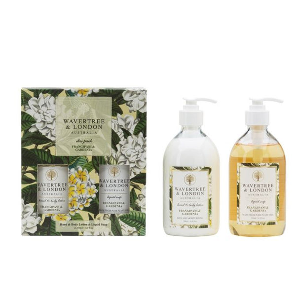 Wavertree & London-DUO HANDWASH AND LOTION GIFT PACK - FRANGIPANI/GARDENIA