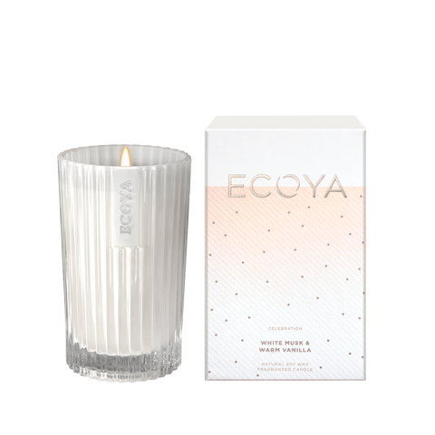 ECOYA-White Musk & Warm Vanilla Celebration Candle