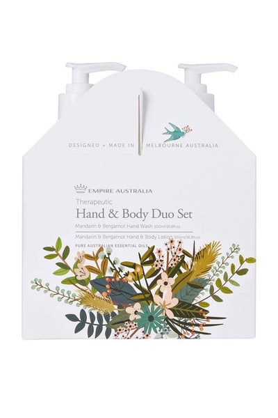Empire Australia-Therapeutics Mandarin Bergamot Hand/Body Care Duo Set 500ml