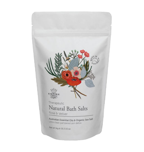 Empire Australia-Rose & Vetiver Bath Salts 1 Kilo