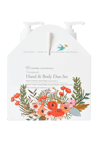 Empire Australia-Therapeutic Rose & Vetiver Hand/Body Care Duo 500ml