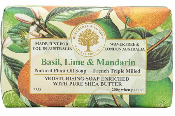 Wavertree & London-BASIL LIME MANDARIN SOAP BAR 200G