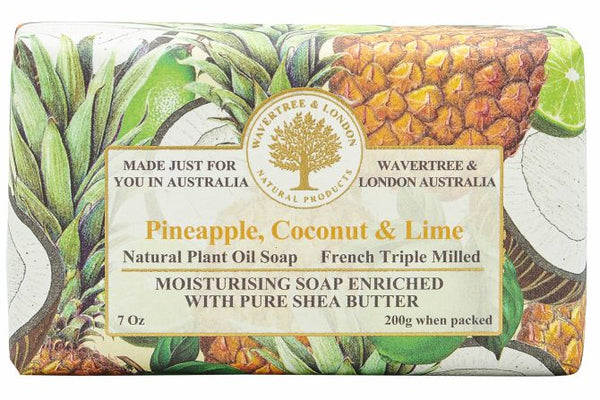 Wavertree & London-PINEAPPLE, COCONUT & LIME SOAP BAR 200G