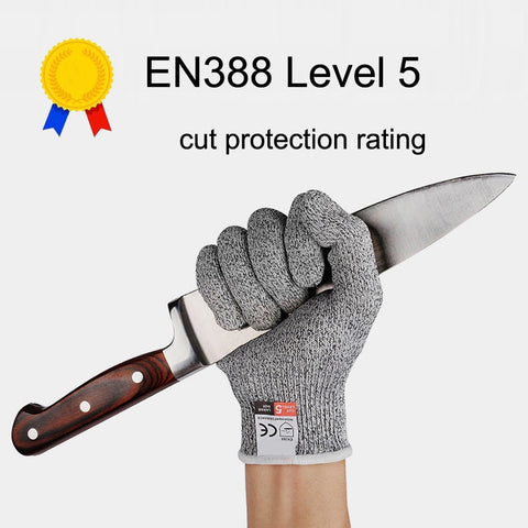 NEWBOLER Anti-cut Outdoor Fishing Hunting Gloves Cut Resistant Protective Knife Anti-cutting Protection Steel Wire Mesh Gloves, Outdoors, SwaangCity, SwaangCity