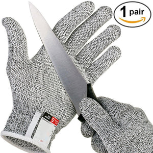 Outdoor Hunting Cut-proof Full Finger Gloves HPPE Food Grade 5 Breathable Anti-cutting Manual Cookware Butcher Protection Hand, Outdoors, SwaangCity, SwaangCity