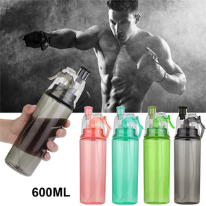 600ml Bicycle/Sports Water Bottle With Lid - Mist Spray Beach Bottle Leak-proof Drinking Cup, Houseware, SwaangCity, SwaangCity