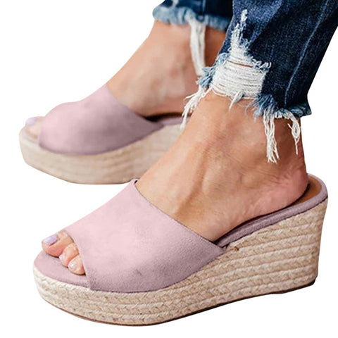 Women Sexy Wedges High Heel Slippers Women Fashion Round Toe Slippers Flip Flop Shoes feminino#g7, Shoes, SwaangCity, SwaangCity