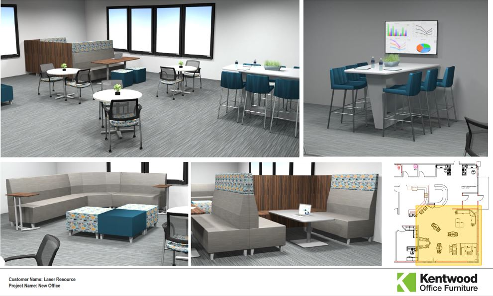 Lasers Resource New Building plaza rendering