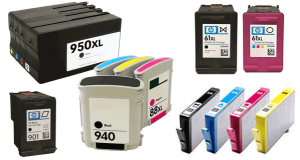 HP ink cartridges - different types and sizes