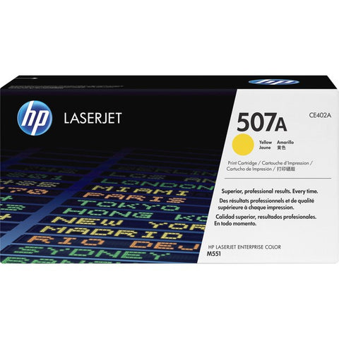 HP 507A (CE402A) Color LaserJet M551 Enterprise 500 MFP M570 M575 M575c Yellow Original LaserJet Toner Cartridge (6000 Yield)