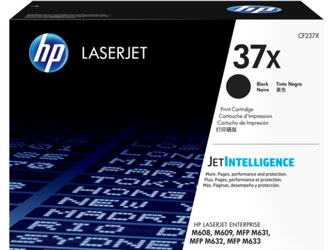 HP 37X (CF237X) LaserJet Enterprise M608 M609 MFP M631 M632 M633 High Yield Black Original LaserJet Toner Cartridge (25000 Yield)