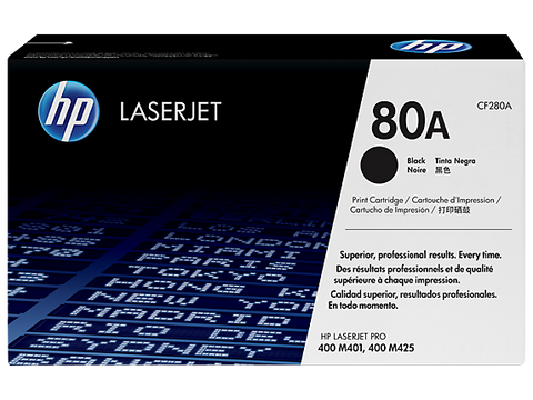 HP 80A (CF280A) Black Original LaserJet Toner Cartridge (2700 Yield)