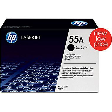 55A (CE255A) LaserJet Enterprise 500 MFP (Flow) M525 Pro MFP M521 P3010 P3015 Black Original LaserJet Toner Cartridge (6000 Yield)