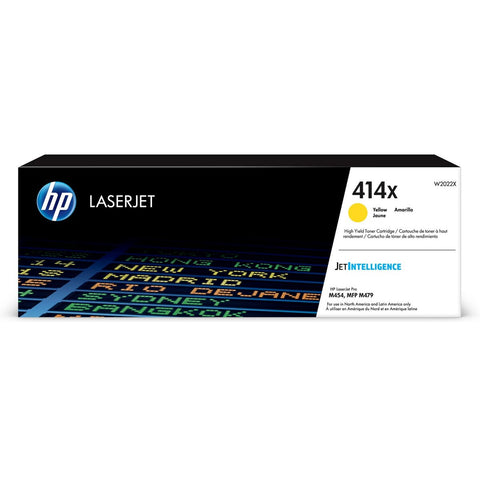 HP 414X (W2022X) High Yield Yellow Original LaserJet Toner Cartridge (Yield 6000)