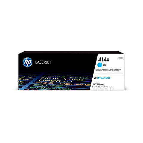 HP 414X (W2021X) High Yield Cyan Original LaserJet Toner Cartridge (Yield 6000)