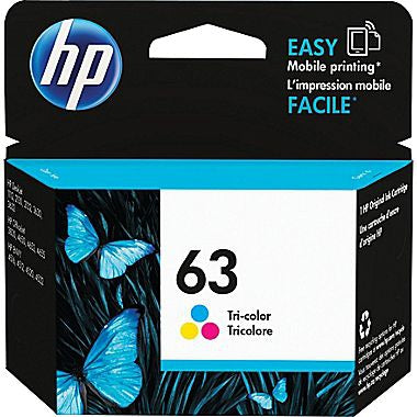 HP HP 63 (F6U61AN) Tri-color Original Ink Cartridge (165 Yield)