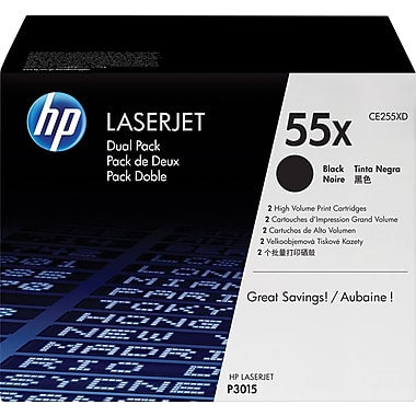 HP 55X (CE255X) LaserJet Enterprise 500 MFP (Flow) M525 Pro MFP M521 P3010 P3015 High Yield Black Original LaserJet Toner Cartridge (12500 Yield) (Yield is 13500 for Model M525)